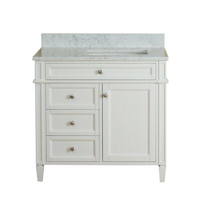 Costillo 36 Single Bathroom Vanity Set Base Finish: Linen White