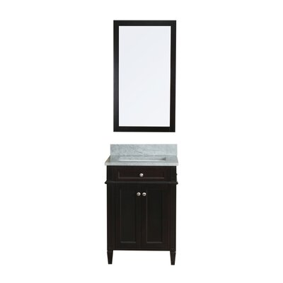 Costillo 24 Single Bathroom Vanity Set with Mirror Base Finish: Espresso