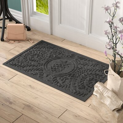 Conway Boxwood Pineapple Doormat Color: Charcoal