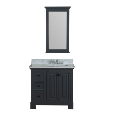 Cothern 36 Single Bathroom Vanity Set Base Finish: Gray