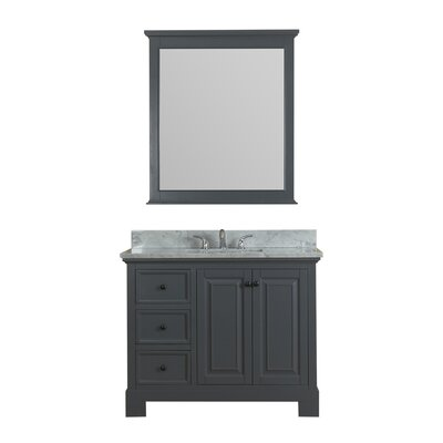Cothern 42 Single Bathroom Vanity Set Base Finish: Gray