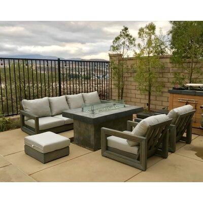 Weather Teak Sunbrella Sofa Seating Group Cushions 9294 Product Photo