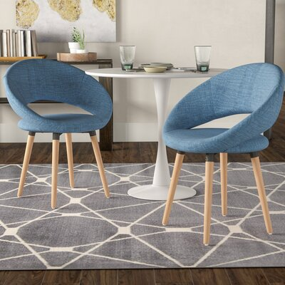 Glastonbury Fabric Modern Upholstered Dining Chair Color: Muted Blue