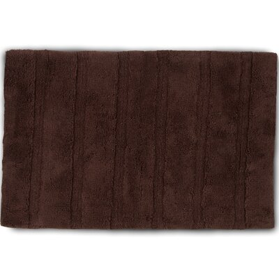 Abundance Bath Rug Color: Chocolate, Size: 20 W x 30 L