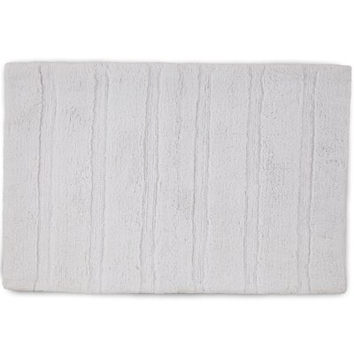 Abundance Bath Rug Color: Optical White, Size: 17 W x 24 L