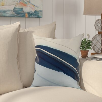 Harriet Boat Throw Pillow Color: Blue, Size: 20 x 20