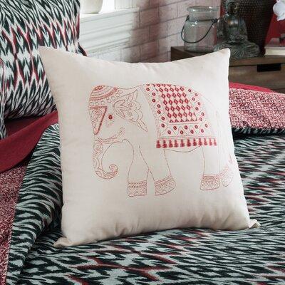 Parkerson Elephant Cotton Throw Pillow