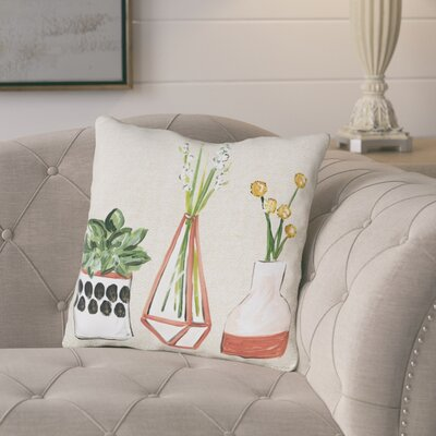 Braysham Vases Throw Pillow Size: 16 x 16