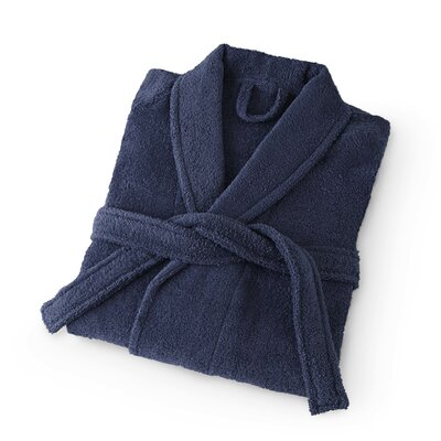 Dress Terry Bathrobe Size: Medium, Color: Dress Blue