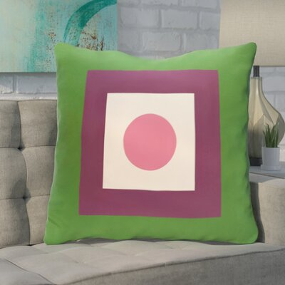Carnell Throw Pillow Size: 26 H x 26 W, Color: Leaf / Petal