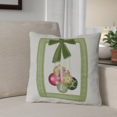 Frame It Up Throw Pillow Size: 20 H x 20 W, Color: Bright Green