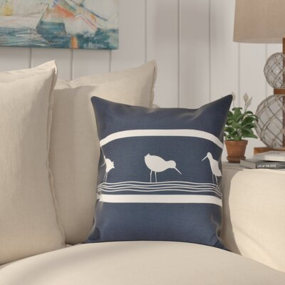 Hancock Birdwalk Animal Print Throw Pillow Size: 16 H x 16 W, Color: Navy Blue