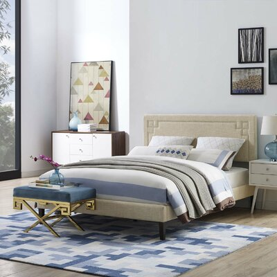 Twerton Upholstered Platform Bed Size: King