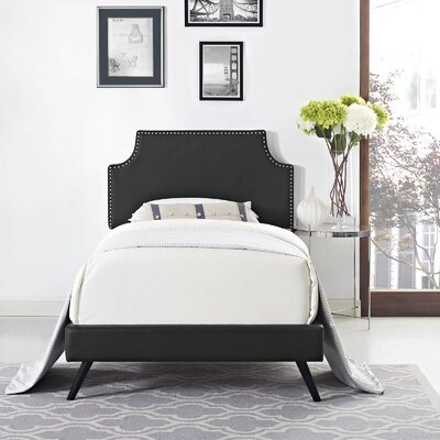 Craighead Twin Upholstered Platform Bed Color: Black