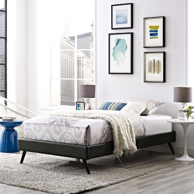 Peres Upholstered Platform Bed Color: Black, Size: King