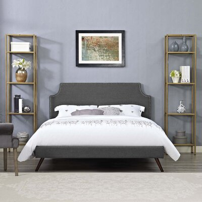 Hertzler Upholstered Platform Bed Color: Gray, Size: Full