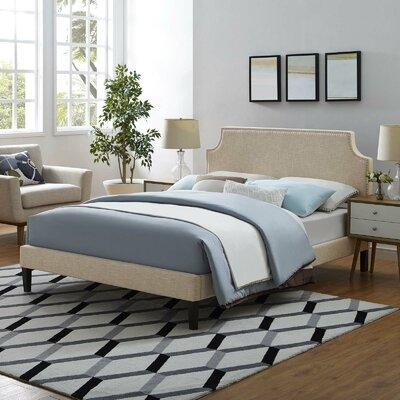 Kempf Upholstered Platform Bed Size: King