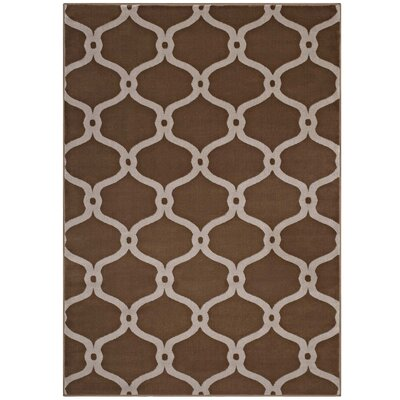 Herzig Chain Link Transitional Trellis Tan/Beige Area Rug Rug Size: Rectangle 8 x 10
