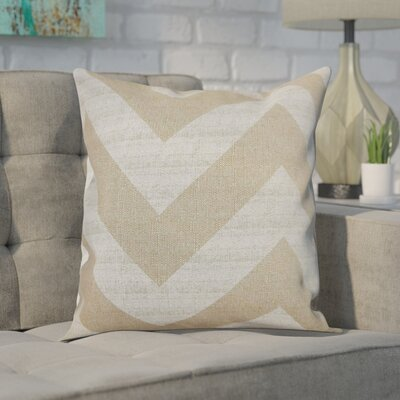 Spadafora 100% Cotton Throw Pillow Color: Brown / Natural, Size: 18 H x 18 W
