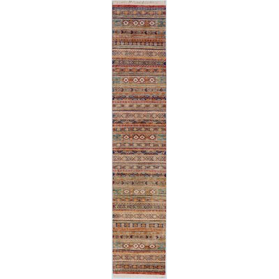 One-of-a-Kind Jeramiah Hand-Knotted Wool Red/Brown Area Rug