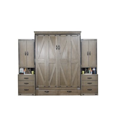 Wehr Queen Murphy Bed Color: Dove Gray
