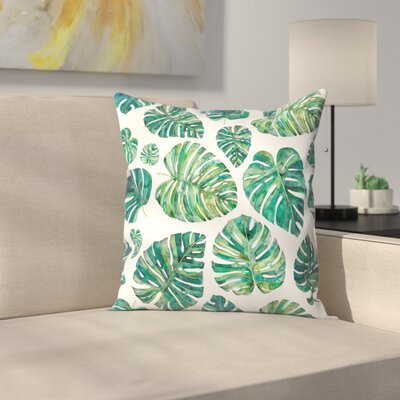 Elena ONeill Tropical Leaves Throw Pillow Size: 16 x 16
