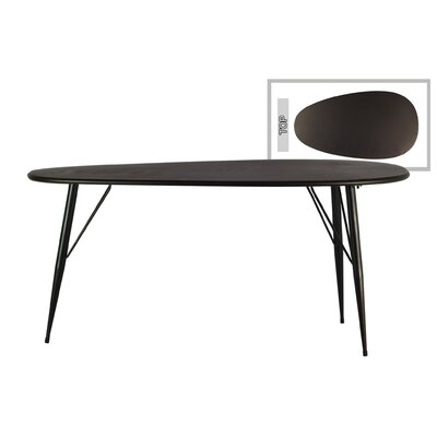 Zavala Metal Oval End Table Table Top Color: Gray