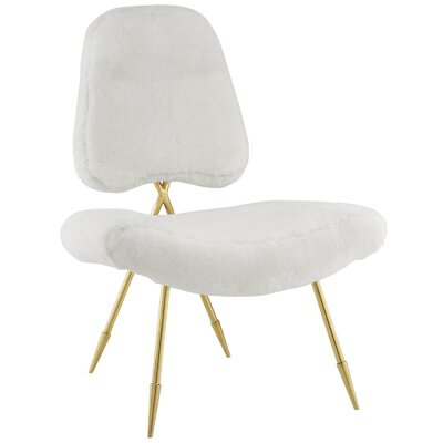Haller Side Chair Upholstery: White