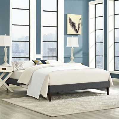 Dignan Upholstered Platform Bed Color: Gray, Size: King