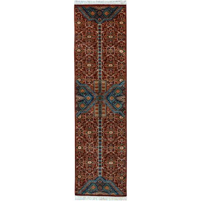 One-of-a-Kind Jeramiah Hand-Knotted Wool Red Area Rug