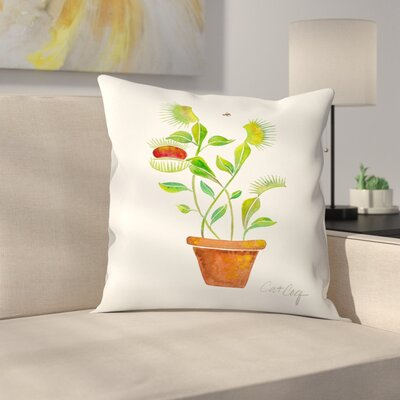 Cat Coquillette Venus Fly Trap Throw Pillow Size: 16 x 16