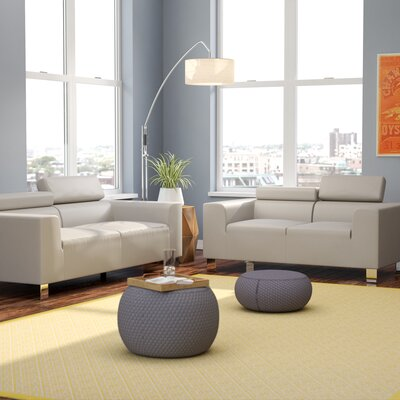 Montvale 2 Piece Living Room Set Upholstery: Grey