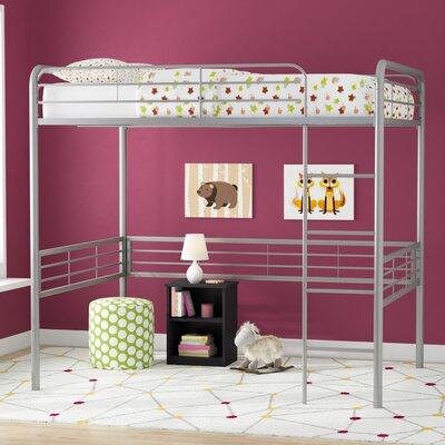 Maximillian Full Loft Bed Bed Frame Color: Silver