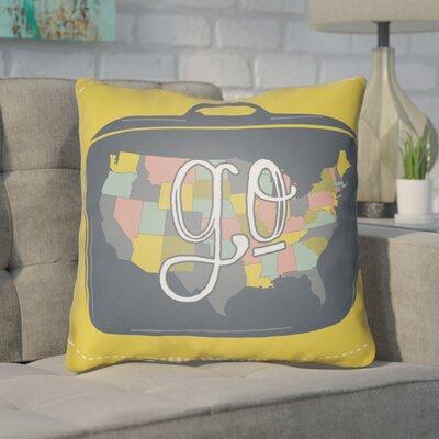 Bainum Go Throw Pillow Size: 18 H x 18 W x 4 D, Color: Yellow