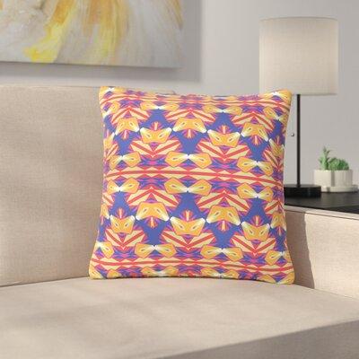 Miranda Mol Ethnic Border Indigo Outdoor Throw Pillow Size: 18 H x 18 W x 5 D