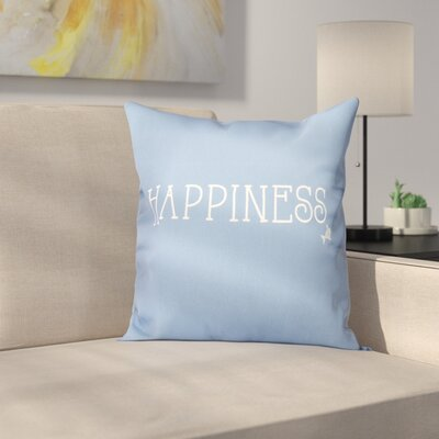 Mae Coastal Happiness Throw Pillow Size: 16 H x 16 W, Color: Dark Blue
