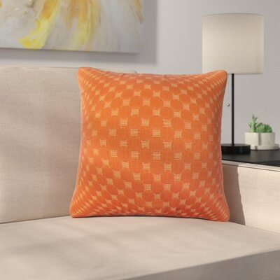 Plyler Solid Cotton Throw Pillow Color: Cinnamon