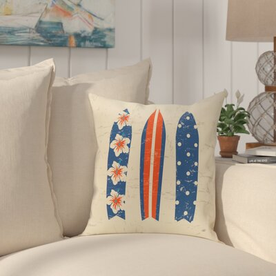 Pembrook Triple Surf Geometric Throw Pillow Size: 18 H x 18 W, Color: Blue
