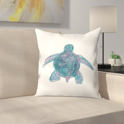 Jetty Printables Watercolor Sea Turtle Throw Pillow Size: 16 x 16