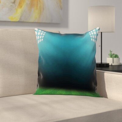 Digital Night at Stadium Lights Square Pillow Cover Size: 18 x 18
