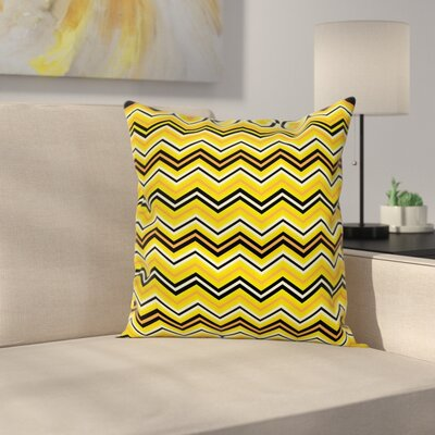 Chevron Modern Artful Square Cushion Pillow Cover Size: 18 x 18
