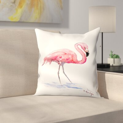 Suren Nersisyan Flamingo 3 Throw Pillow Size: 16 x 16