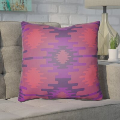 Adamson Square Throw Pillow Size: 20 H x 20 W x 3.5 D, Color: Purple