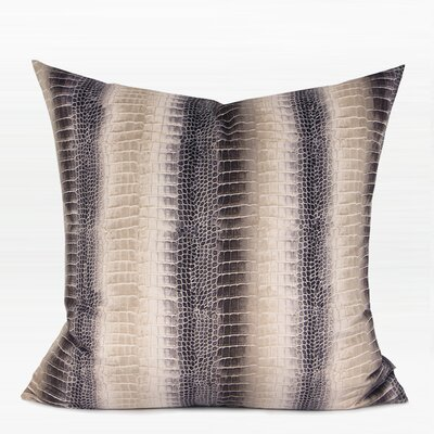 Giltner Stripe Snakeskin Pattern Digital Printing Flannel Pillow Fill Material: Down/Feather, Product Type: Throw Pillow