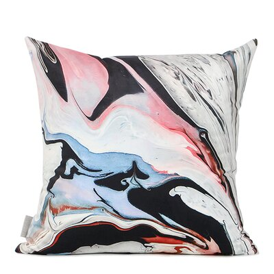 Denault Abstract Oil Painting Digital Printing Pillow Cover Fill Material: Polyester/Polyfill