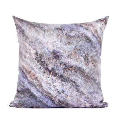 Dendy Galaxy Digital Printing Pillow Cover Fill Material: Polyester/Polyfill, Color: Purple/Black