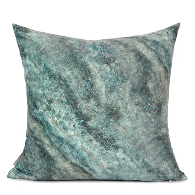 Dendy Galaxy Digital Printing Pillow Cover Fill Material: Down/Feather, Color: Green/Black