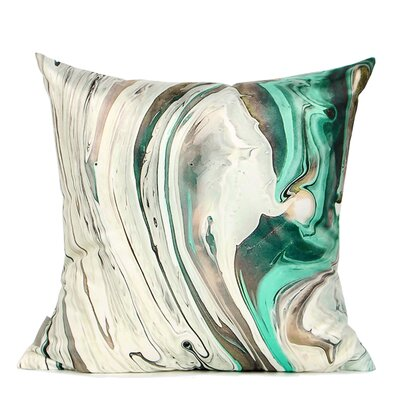 Deneb Abstract Oil Painting Digital Printing Pillow Cover Fill Material: No Fill