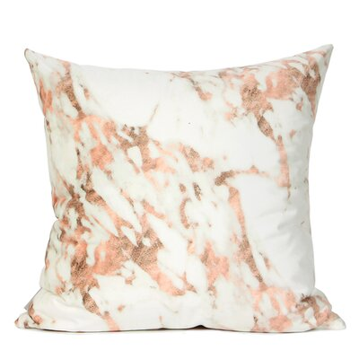Dengler Digital Printing Pillow Cover Fill Material: No Fill, Color: Pink/White