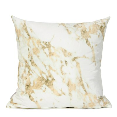 Dengler Digital Printing Pillow Cover Fill Material: Down/Feather, Color: Gold/White